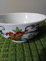 Vintage Chinese Porcelain Bowl, Hand Painted Butterflies, Flowers Gourds Asian B image 3
