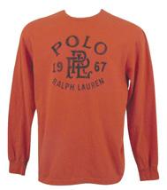 NEW Polo Ralph Lauren Vintage Long Sleeve T Shirt! Blue, Orange  Baroque Letters - $39.99