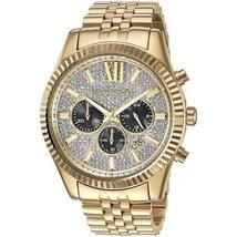 Michael Kors MK8494 Lexington Yellow Gold Men's Chronograph Watch - $345.10