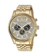 Michael Kors MK8494 Lexington Yellow Gold Men's Chronograph Watch - $327.84