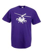 Mens T-Shirt Army Helicopter, War Machine Guns Shirts, Military Copter Shirt - $24.74