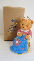 Christmas Avon 1996 Hobby Bear Sewing Ornament - $4.99
