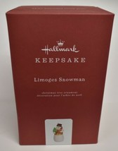 Hallmark Keepsake Christmas 2019 Year Dated Limoges Snowman Ornament - $39.19