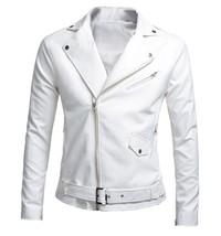 Men's Fashion Winter Autumn Warm Motorcycle PU Leather Jacket Coat - $38.04