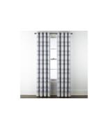 (1) JCP Home Sullivan Plaid BLUE CHAMBRAY Blackout Grommet Curtain Panel... - $39.79