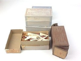 Vintage Lot of 5 Edward Orton Standard Pyrometric Cones Boxes Made In USA - $19.99