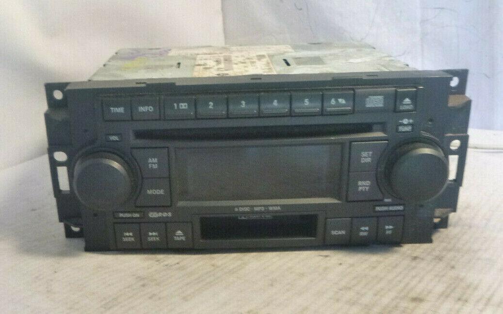 05-09 Chrysler Dodge RAK Radio 6 Disc Cd Mp3 Cassette Player P05091523AH RKV847 image 2