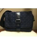Pristine Vera Bradley Navy Blue Quilted Pattern Purse/Handbag 11366-951 - $34.65