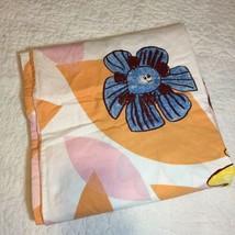 "Ikea Kryp Blomma Duvet Cover Twin 60"" x 84"" 100% Cotton Pink Orange Flowers - $96.74"