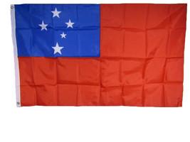 3x5 Samoa Samoan Country 210D Nylon Flag 3'x5' Brass Grommets 2 clips - $11.88