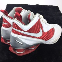 Nike Shox BB Pro Tb Men's Athletic Sneakers 8.5 White & Red 407628-105 Shoes - $54.44