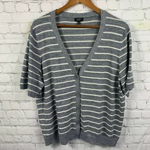 Talbots Women's Plus Size Short Sleeve Cardigan Striped Metallic Size 3XP - $24.08