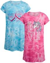 Rene Rofe Girls' Pajamas - Short Sleeve Sleep (10-12|Pink Unicorn/Blue H... - $20.36