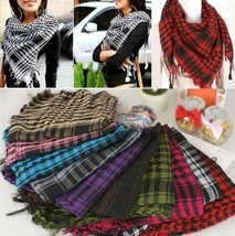 New Arab Shemagh Tactical Palestine Light Polyester Scarf Shawl For Men Women Fa