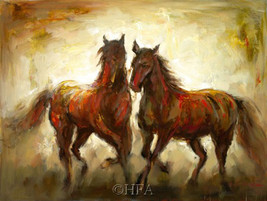 Adagio by Christine Stewart Horses Giclee 18x24 Stretched Canvas Animal Print - $197.01