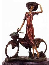 The Bicycle Spring Time Solid Bronze Sculpture Statue - by Icart Monumental Size - $4,503.10