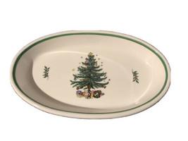 "Christmastime Nikko Christmas Tree Oval Baker Casserole Dish 13""X 8"" Jap... - $28.65"