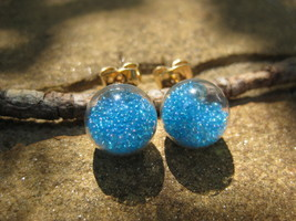 Haunted Blue Lava Love Spell Earrings extremely powerful magick - $20.00