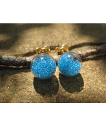 Haunted Blue Lava Love Spell Earrings extremely... - $20.00