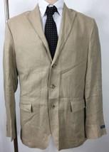 Polo Ralph Lauren Mens Suit Jacket 38 Regular Stone Brown Linen Italy - $265.32