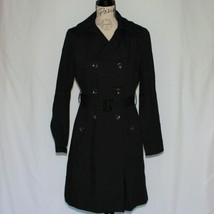 Kenneth Cole New York Women's Black Trench Coat Jacket size M - $149.99