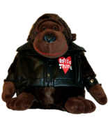 """Gorilla Wearing Wild Thing Motor Cycle Jacket Soft and Cuddly Dan Dee 12""""   - $15.83"""