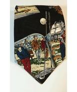 Vintage Robert Stock Men's Neck Tie 100% Silk Golf Print Bagger Vance - $14.54
