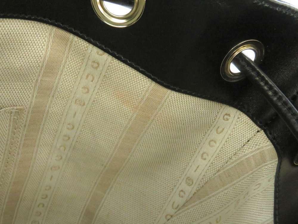 GUCCI Diamente Leather Black Shoulder Bag 354229 One shoulder Italy Authentic image 9