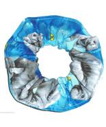 Manatee Blue Hair Scrunchie Scrunchies by Sherry Ponytail Holder Cotton - $6.99