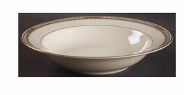 """Mikasa Sheraton 10"""" Round Vegetable Bowl LAN03 Band Light Blue Brown Pan... - $23.80"""