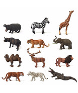 High Quality Mini Zoo Wild Animals Action Figures Kids Toys Figurines Li... - $9.84+
