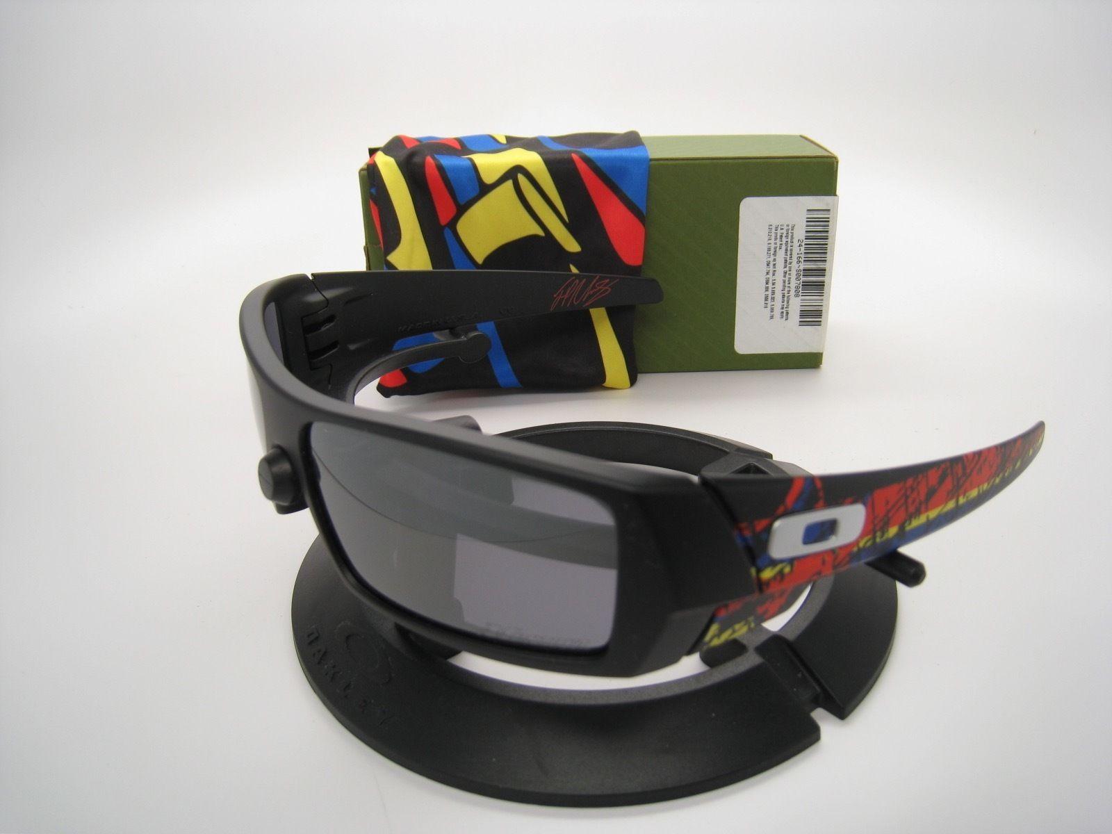 Rare New Oakley Limited Montoya 09 Gascan Matte Black w/black Iridium 24-166