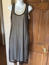 EUC Womens Calvin Klein Brown Beige t shirt Dress Scoop Neck Sleeveless ... - $24.18