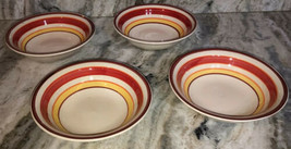 Royal Norfolk Soup Cereal Bowls-Set Of 4 Red/Yellow Swirl(Brand New)SHIPS N 24HR - $44.43