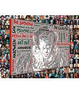 Horror Movie Word Art Print Mosaic Designed using Horror Movie Titles.  - $49.00+