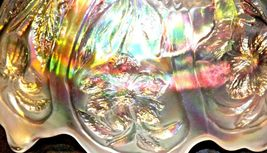 White Imperial Carnival Glass Bowl AA19-1530 Vintage image 5