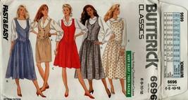 6696 Butterick Classics Sizes  6 8 10 12 Jumper Misses Sewing Pattern UNCUT - $3.95