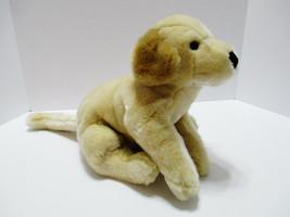"Blonde Retriever Plush Stuffed Puppy Dog 15"" Long Soft 2001 Commonwealth - $22.80"