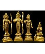 Ram Darbar / Lord Rama With Goddess Sita , Laxman And Lord Hanuman in Pu... - $292.05