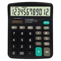 CTTTZEN 12 Digits Calculator Solar Battery Light Powered Dual Power Driv... - $8.37