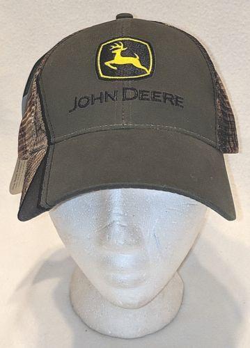 John Deere Real Tree LP52387 Olive Green And Mesh Camo Summer Baseball Cap