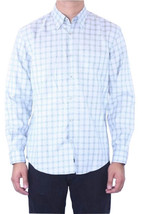 S NWT Joseph Abboud Casual Blue Green Checked Pattern Button Down Shirt ... - $178.58 CAD