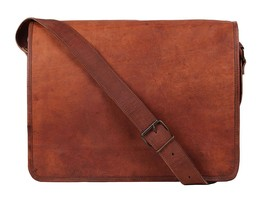 Vintage Genuine Goat Leather Handmade Cross Body School/Travel Bag 9x11 inch - $37.12+