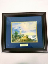 Home Interiors Thomas Kinkade Library Edition A Light In The Storm 18 x 16 - $34.64