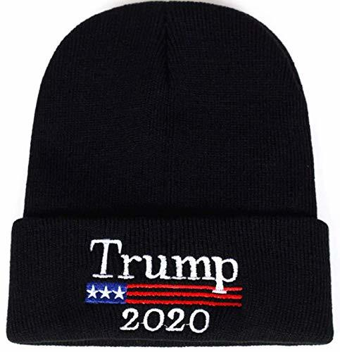 2020 Donald Trump Black Beanie Skullie Hat Keep America Great Embroidery USA Fla