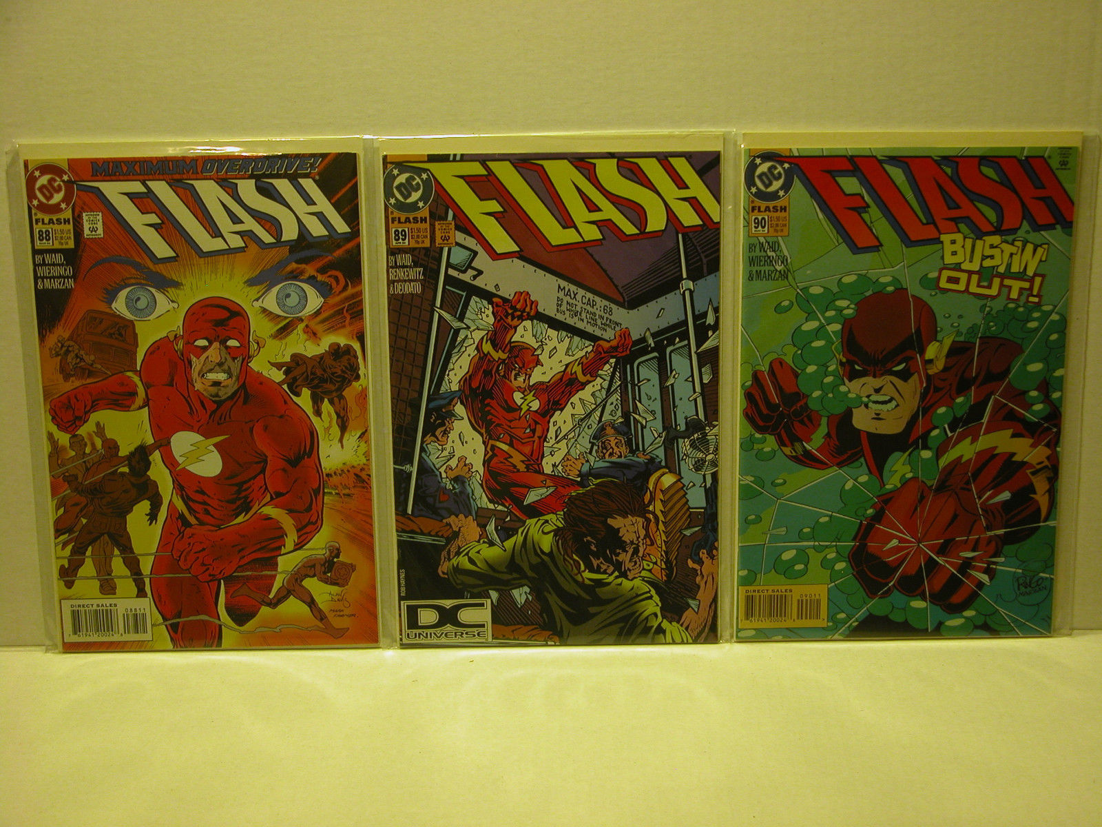 "THE FLASH - #83 - 85 ""RAZER"" + #88 - 90 DC COMICS - FREE SHIPPING"