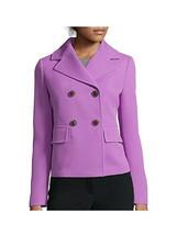 New Liz Claiborne Women's Modern Double-Breasted Jacket Xanadu Orchid Si... - $39.59