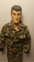 "GI Joe 1996 Hasbro Black Hands Action Man Scar Face 12"" Preowned Clothed... - $29.69"