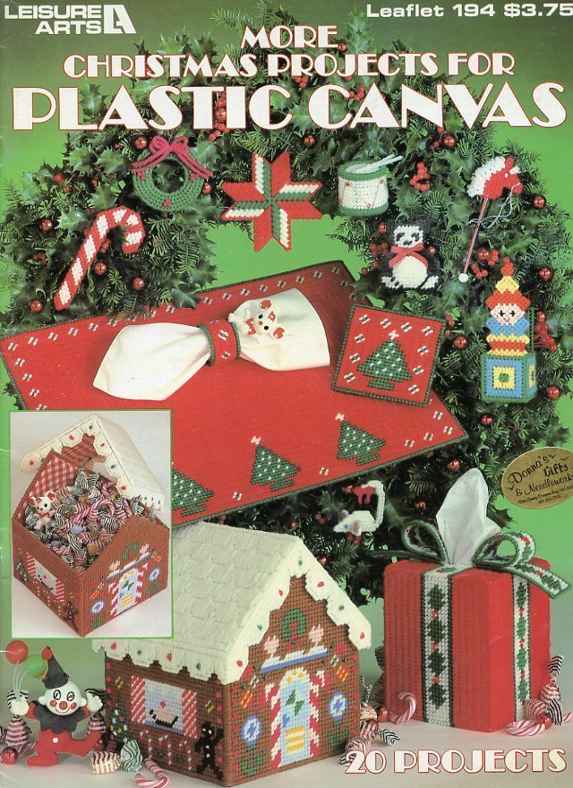 More Christmas Projects 20 Designs Ornaments Plastic Canvas Pattern Leaflet