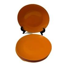 "Royal Norfolk Orange China 10 ½"" Dinner Plates Lot of 4 - $18.70"